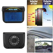 usb powered car fan solar power car window auto air vent cool fan cooler ventilation