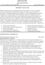 property manager resume property manager resume sle property management resume sles