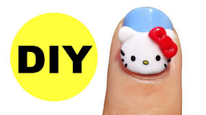how to 3d hello kitty nails youtube
