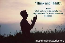 think and thank inspiring stories thought for the day