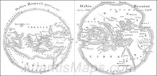Greece World Map by The Map At The Bottom Of The World
