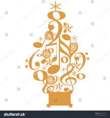 Music Note Christmas Tree Ornament by Illustration Christmas Tree Made Musical Notes Stock Illustration