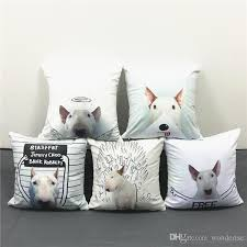 where to buy free hug sofa 5 styles bell terrier dogs cushion covers hand painting angel dog