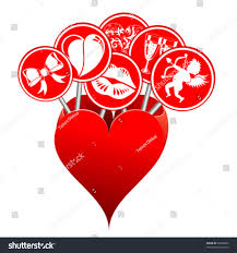 box form hearts love signs concept stock vector 93658300