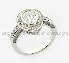 china silver ring designs for china 925 sterling silver cz