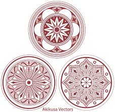 classic medallion ornament vector free 123freevectors