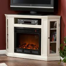 Claremont Wall Or Corner Electric Fireplace Media Cabinet In Ivory