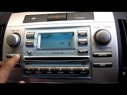 2006 toyota corolla verso cd player stereo youtube