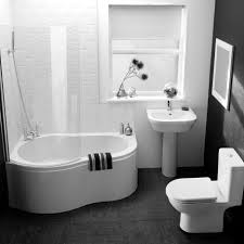 black and white bathroom design scheme using love shape corner