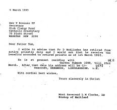 letters presented to the special commission of inquiry newcastle