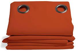 orange blackout curtain solid color rust mc374 moondream curtains