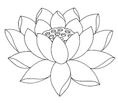 Fully Bloom Lotus Flower Coloring Pages Batch Coloring Buddhist Coloring Pages