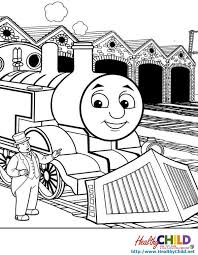 kid waving his hand for the train coloring pages