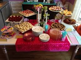 Baby Shower Table Setup by Baby Shower Decorations Dessert Shower Food Table Display Dot