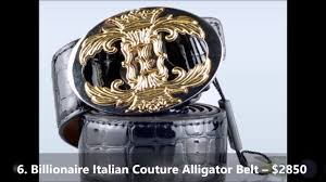 top 10 most expensive belts of all time youtube