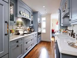 Galley Kitchen Design With Island by Gray Gallery Kitchen Chrome Pepper Mill Parquet Floor Minimalist