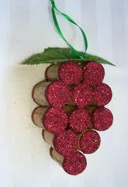 wine cork grape cluster ornament christmas tree ornament