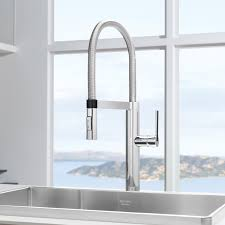 brass blanco meridian semi professional kitchen faucet wall mount