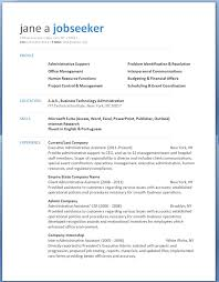resume template outline free resume template for microsoft word