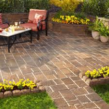 Simple Brick Patio With Circle Paver Kit Patio Designs And Ideas by Shop Pavers U0026 Retaining Walls At Lowes Com