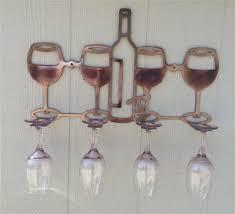 metal art wine glass holder