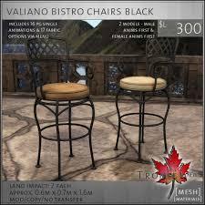 Single Bistro Chair Second Marketplace Trompe Loeil Valiano Bistro Chairs
