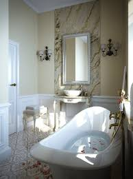 classic marble stones bathroom with clawfoot tub home interiors