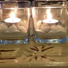 small tea light candles great candle holder idea clear glass cup vase attach colorful flat