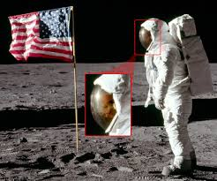 Moon Flag From Earth One Small Step