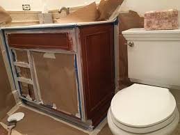 Refinish Vanity Cabinet How To Paint A Vanity Cabinet Turn A Older Wooden Cabinet To