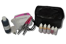 airbrush makeup kit with aloe foundations and sunless tanning