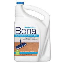 Wood Floor Cleaning Products Bona Powerplus Hardwood Floor Cleaner Refill 160 Oz Us