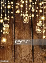 Mason Jar String Lights Country And Western Invitation Design Template With Oval String