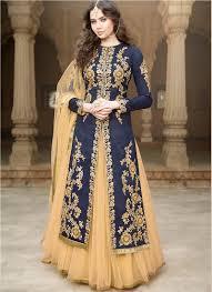 wedding wear dresses buy this navy blue banglori silk wedding wear embroidered work floor