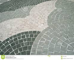 Gry Colour Fan Shape Grey Colour Square Shaped Stone Bricks Royalty Free