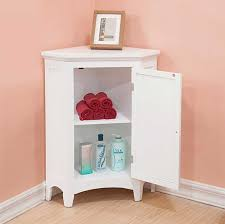 White Corner Bathroom Cabinet Corner Cabinets For Bathroom With Door In White Finish Home