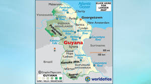 Guyana Map Our Guyana Trip