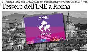 consolato messico roma 10 febbraio a roma tessere elettorali per i cittadini messicani in