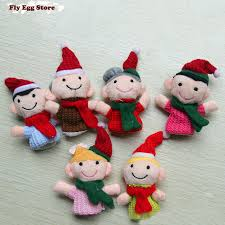 Mother Daughter Christmas Ornaments Aliexpress Com Buy 6 Pcs Christmas Gift Family Finger Puppet