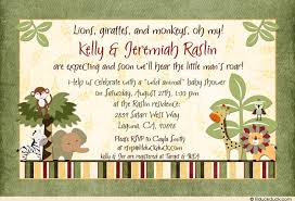 Couple S Shower Baby Shower Invitation Wording For Couples Jungle Safari Friends