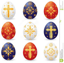 christian symbol easter eggs royalty free stock images image