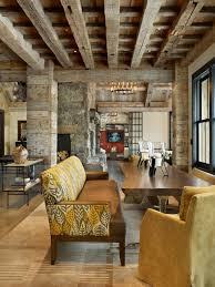 dining room ceiling beams in simple rustic dining room ideas with