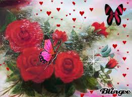Roses And Butterflies - roses and butterflies picture 121668244 blingee com