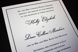 Classic Wedding Invitations Classic Black Border On Cream Linen Wedding Invitations Emdotzee