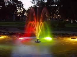creative of outdoor lighted fountains beautiful lighted fountains