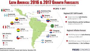Mexico Central America And South America Map latin america economic outlook u0026 forecast 2017