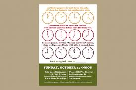 around the clock bridal shower items similar to around the clock bridal shower invitation set of