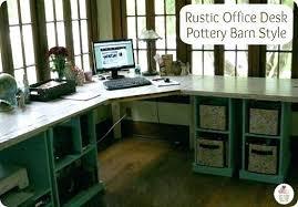Pottery Barn Corner Desk Rustic Corner Desk Office Pottery Barn Style On Oak Computer