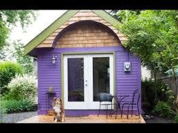 tiny house vacation purple tiny house vacation in portland or youtube