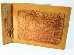 leather memory book leather photo album wedding guest book memory book postcard